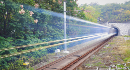 High speed signals traveling from a train tunnel