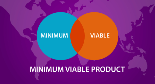 A Venn Diagram showing how to find the minimum viable product (MVP)