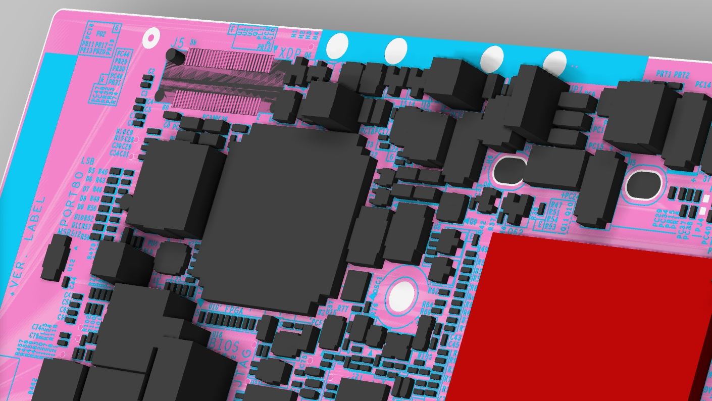 3D PCB layout model from Cadence Allegro PCB Editor