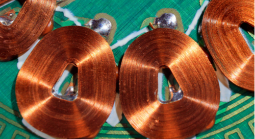 Copper coils in a brushless motor for pulse width modulation applications