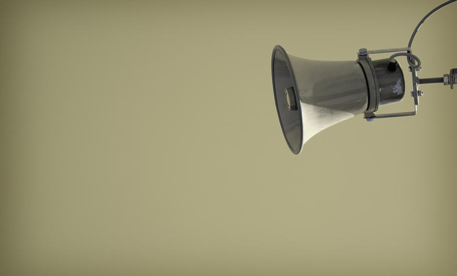 Amplifying loudspeaker on background color