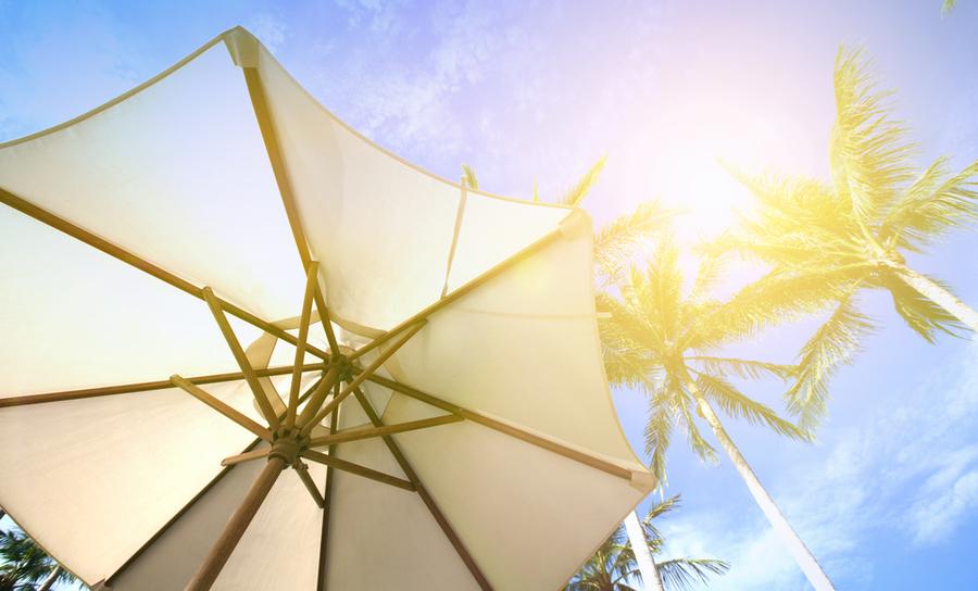 Parasol under the sun