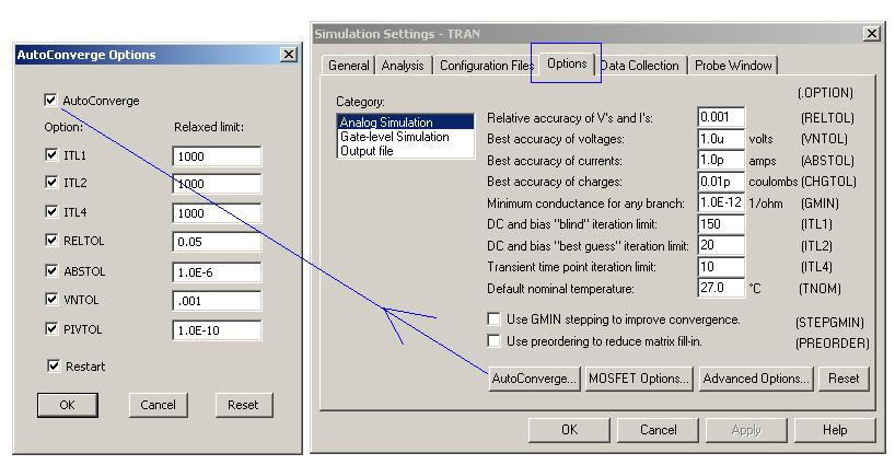 Using AutoConvergence to force a solution