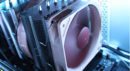 Combined fan and heatsink