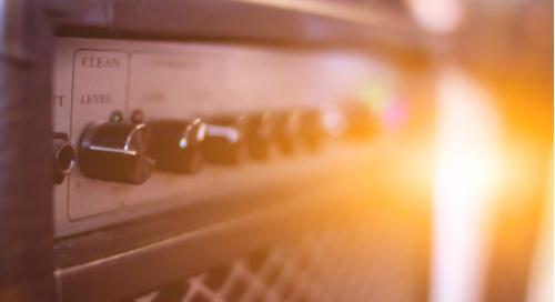 Amplifier in glaring light