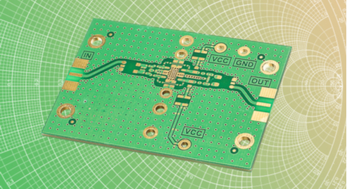 circuit board in front of smith graph