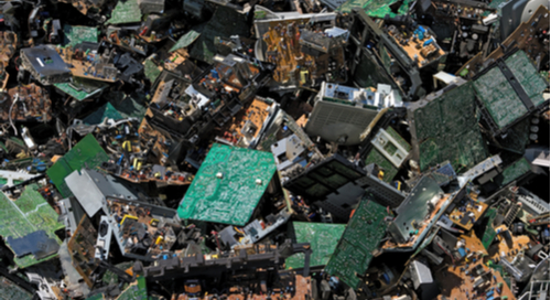 Pile of circuit boards for scrap
