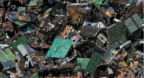 Pile of circuit boards for scrap