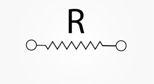 Radio element symbol showing interruption or flow