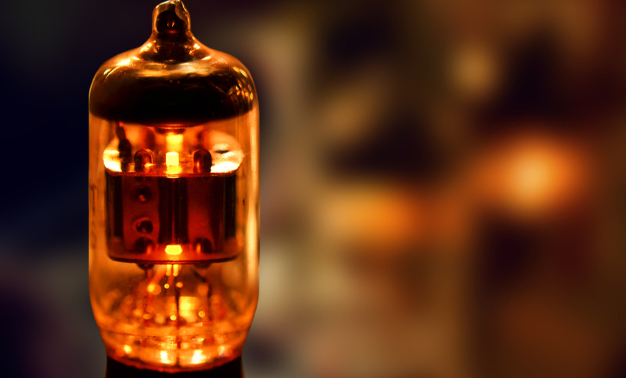 A vacuum tube from earlier electronic devices
