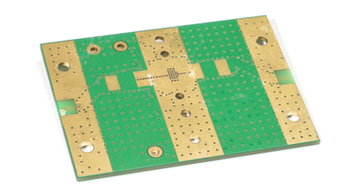 Bottom side of a PCB