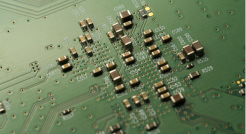 Picture of SMD components in a circuit