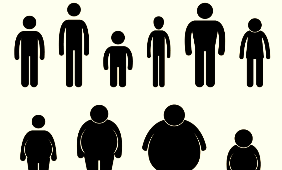 Body shapes of 9 figures