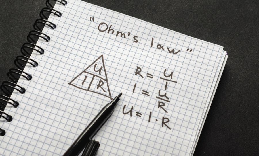 Ohm's law on a sketch pad
