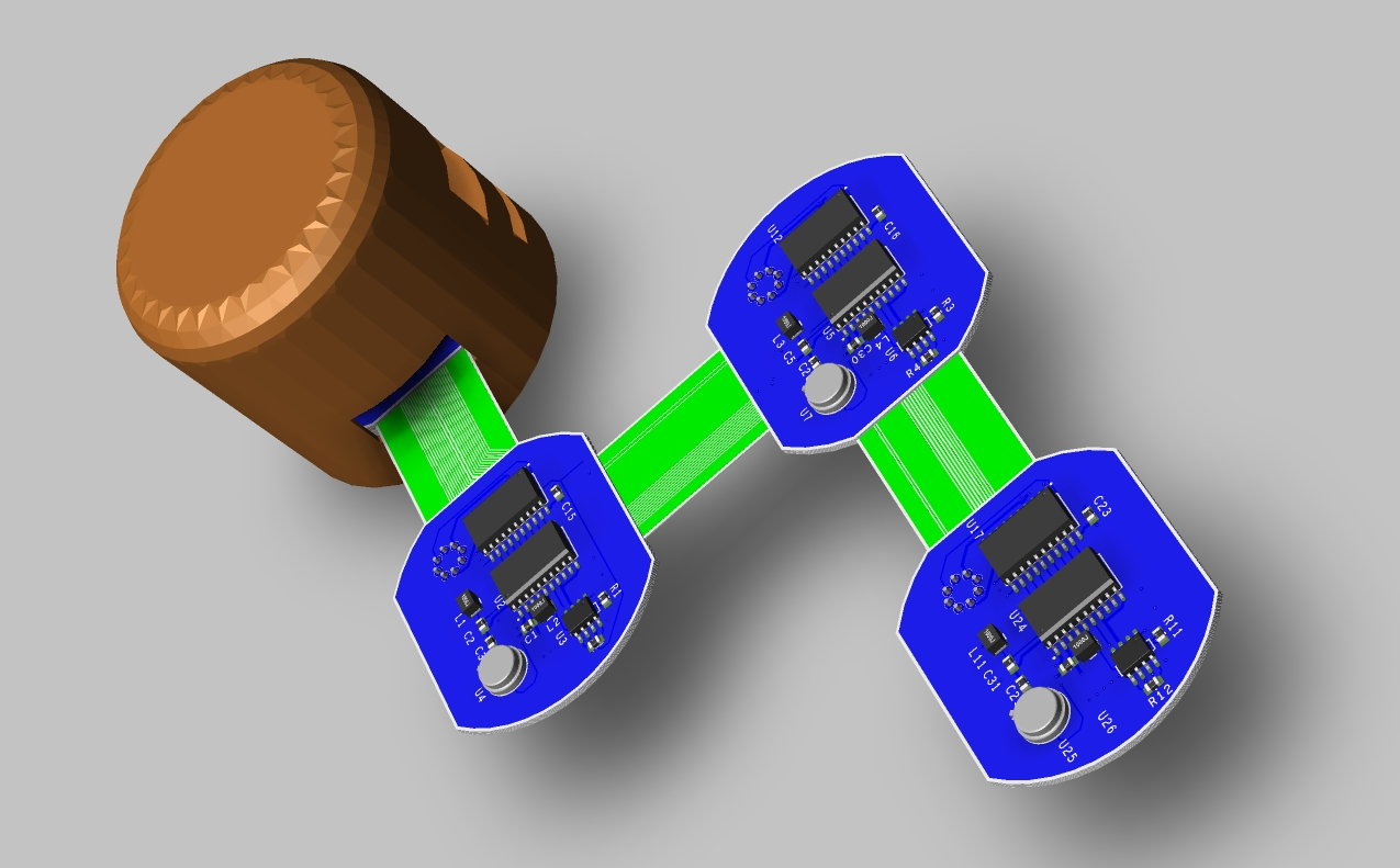 Screenshot of OrCAD 3D layout of a flex circuit