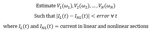 RF harmonic balance problem statement