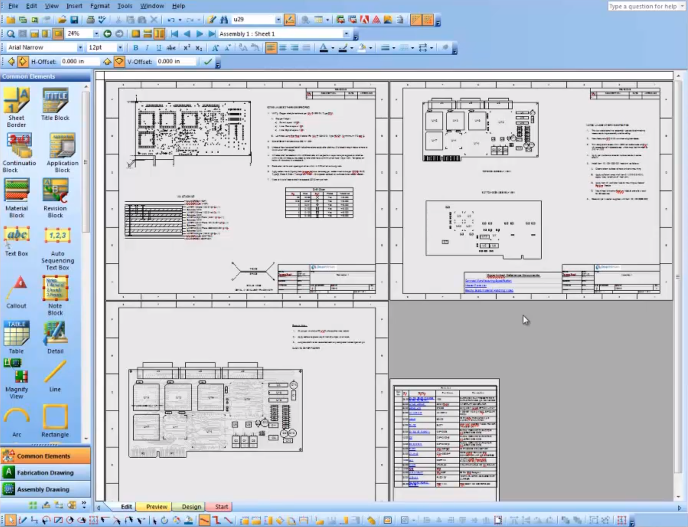 Fabrication and assembly drawing through documentation editor in OrCAD designer