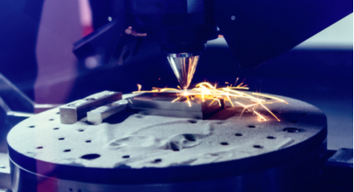 Additive manufacturing creating a steel part