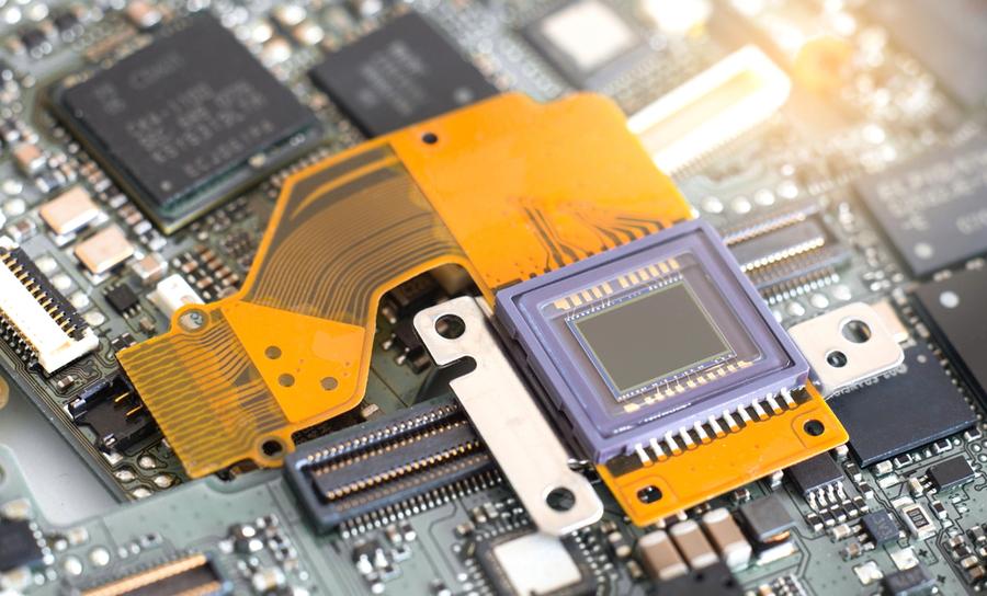 CMOS sensor on a flex PCB