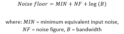 Equation for noise floor