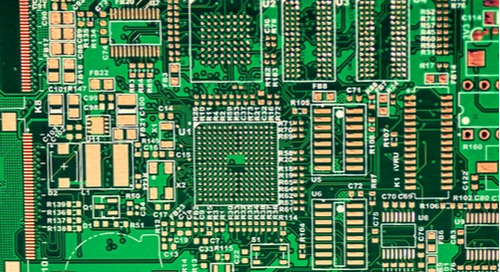 Picture of a board after going through the multilayer PCB fabrication process