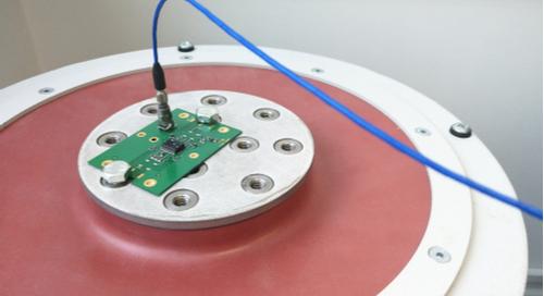 PCB prepared for a vibration test