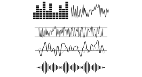 Various displays of analog and digital waveforms