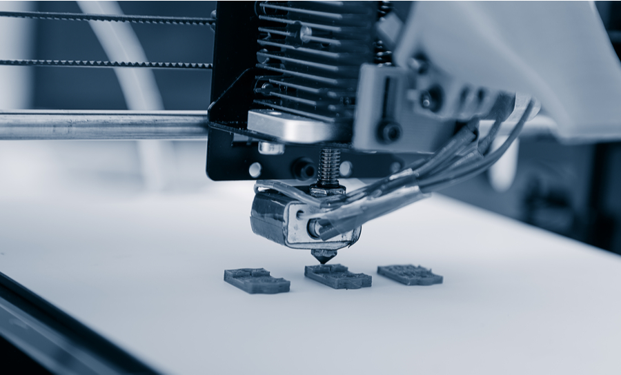 3D printing machine manufacturing electronic parts