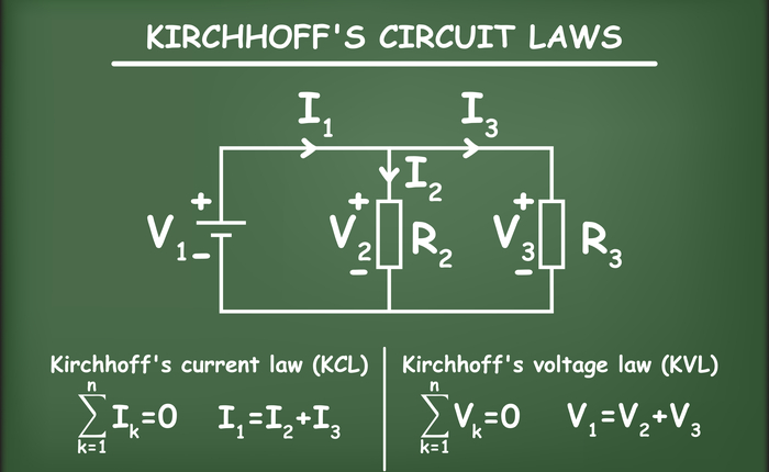 Kirchhoff's circuit, current, and voltage laws