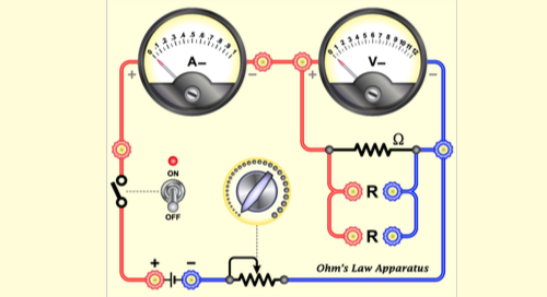 Ohm's law apparatus diagram