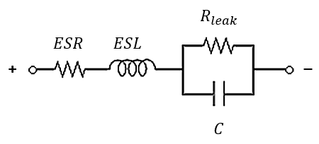 Circuit model for a real capacitor
