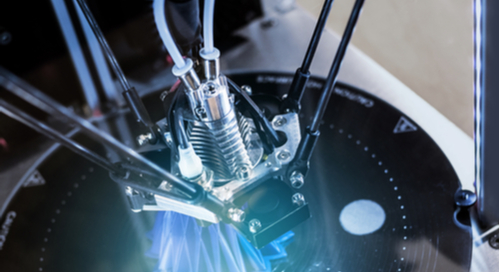 Additive manufacturing at work on an electronic device