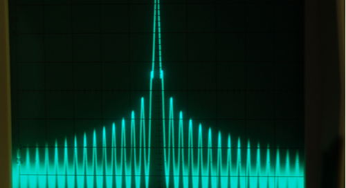 Harmonic content measurement with an oscilloscope
