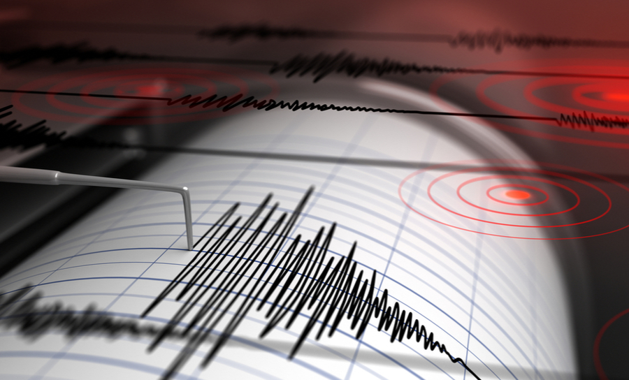 Picture of a seismograph measuring an earthquake and vibration fatigue