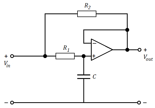 Capacitance multiplier circuit with an operational amplifier