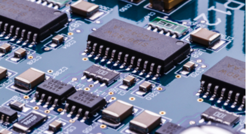Close up picture of component placement for life cycle cost analysis of a PCB