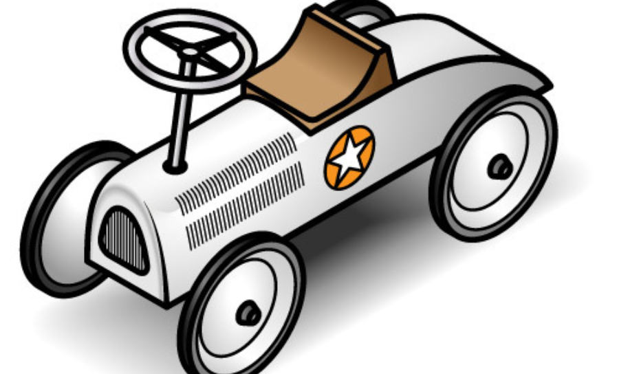 Image of child's go-kart that was often built from reused parts