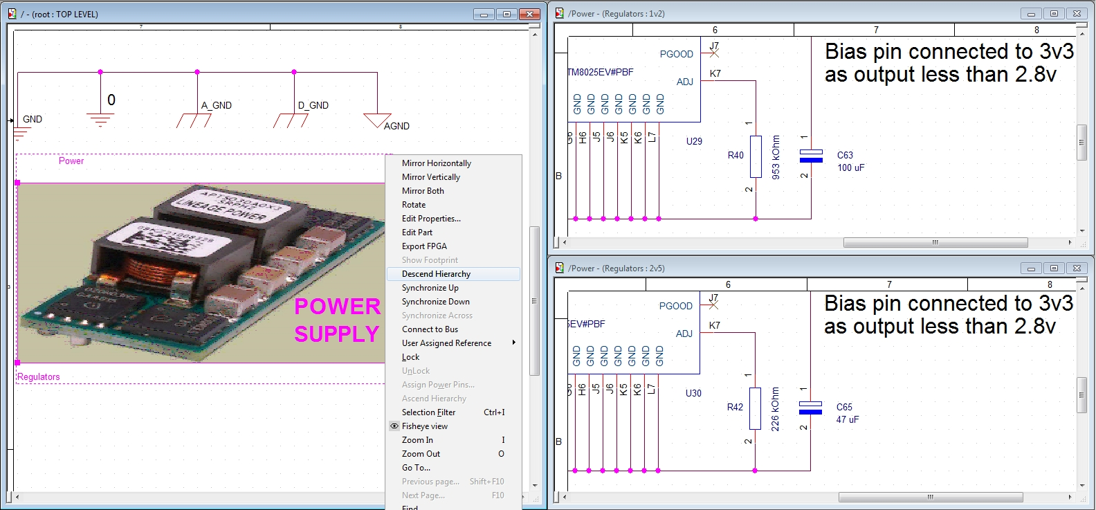 Screenshot of OrCAD capture and its engineering productivity and design reuse tools