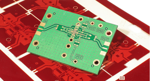 Circuit board with thermal materials applied