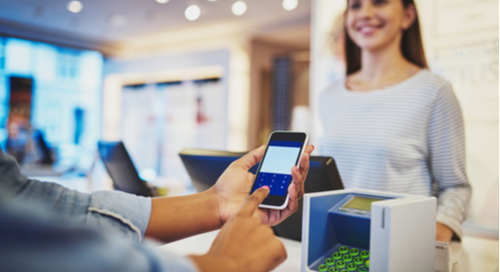 Customer transaction using smart pay features on a smartphone