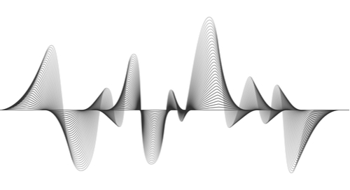 Graphic frequency waveform representation