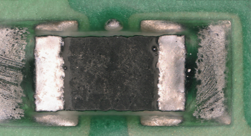 SMD detached from its pads