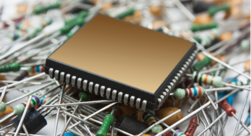 Picture of a pile of electronic components