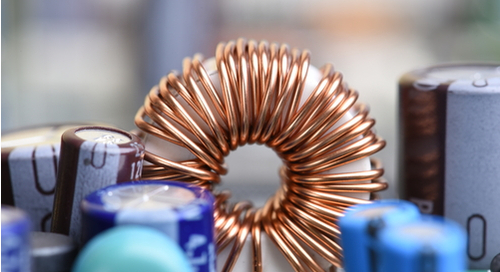 Copper coil working through inductance on a circuit board