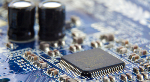 Picture of a circuit board with components on it