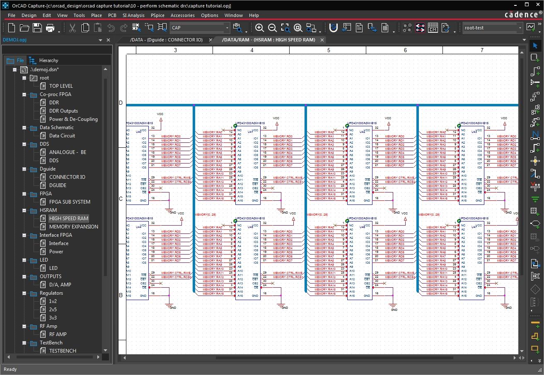 Screenshot of OrCAD schematic capture