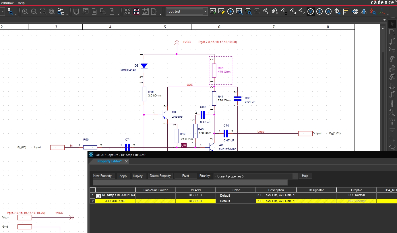 Screenshot of OrCAD Capture