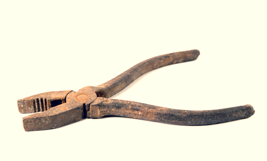 Picture of an old slip-joint adjustable pair of pliers