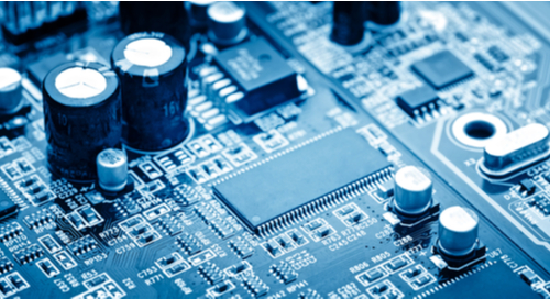 Picture of the components of an assembled circuit board