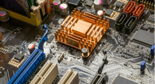 FPGA on a motherboard circuit